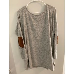 Sweaters - Tunic sweater with elbow patches